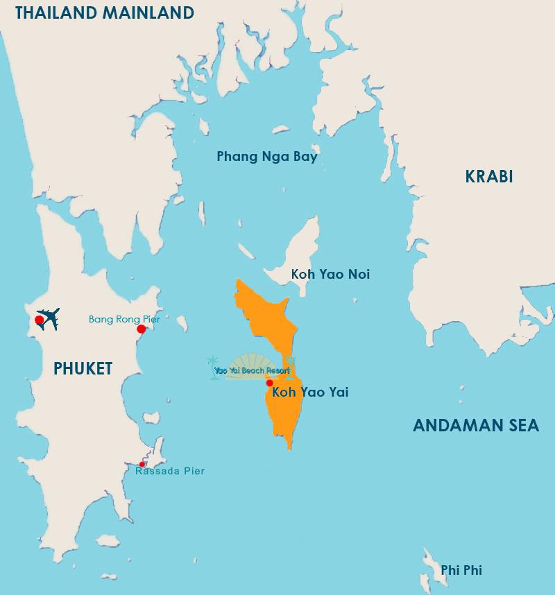 map Yao Yai island