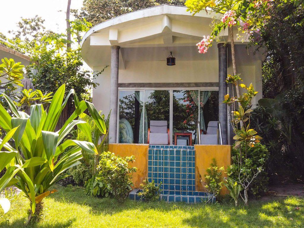 boat pool villa view exterior Yao Yai Beach Resort Thailand