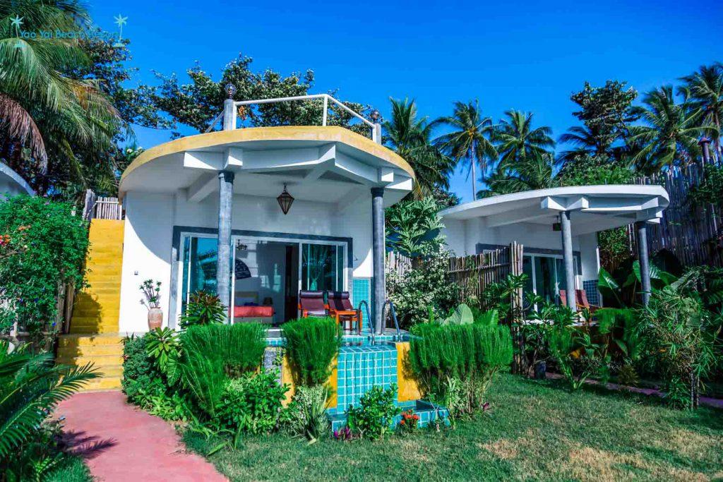 boat villas view Yao Yai Beach Resort Thailand