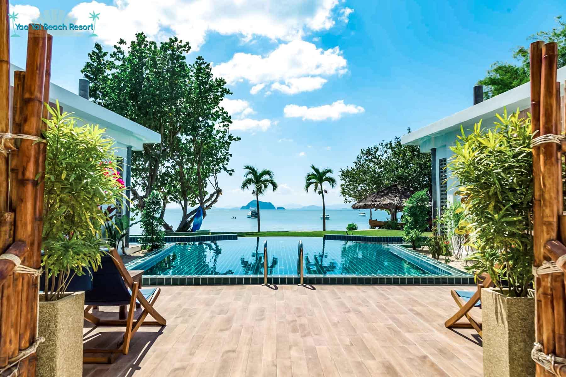big pool view Yao Yai Beach Resort Thailand