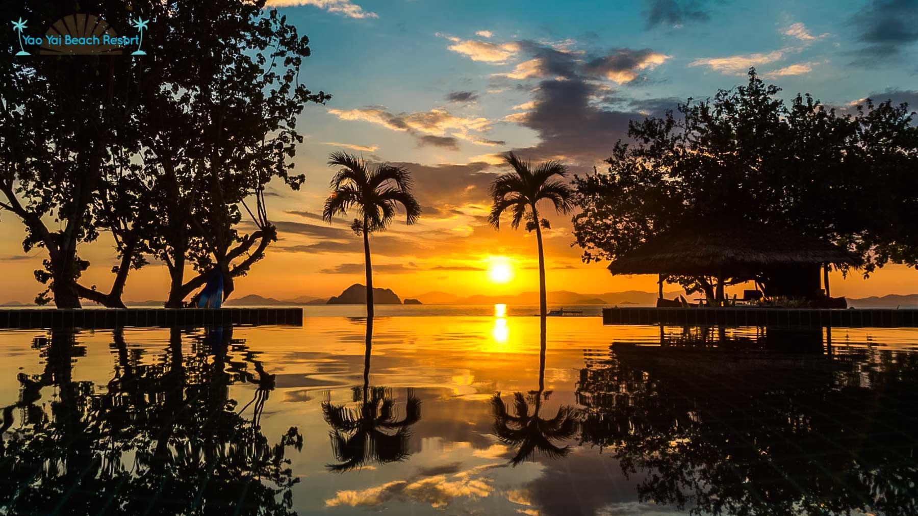 sunset view Yao Yai Beach Resort Thailand